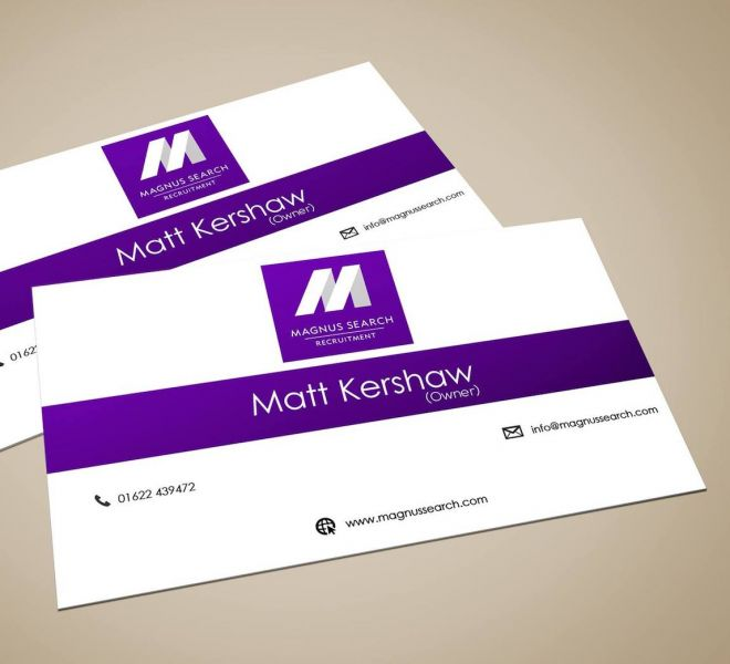 Magnus Search business card rear x2